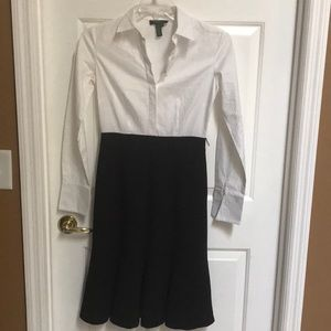 Ralph Lauren white/ black dress super cute sz 2